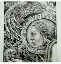 """""""She made broken look beautiful and strong look invincible. She walked with the Universe on her shoulders and made it look like a pair of wings. Aztec Art, American Art, Mexican Art Tattoos, Lowrider Art, Chicano Art, Chicano Art Tattoos, Art, Mayan Art, Mexican Art"""