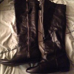 Tall black boots Size 9 tall black Rampage boots Rampage Shoes Over the Knee Boots