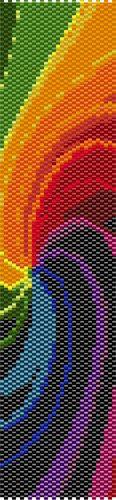Brazalete de peyote de una gota de remolinos por LaceOfPearls