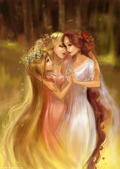 """The """"Three Graces"""" or """"Charites"""": daughters of Zeus and Eurynome, who represent… Greek Gods And Goddesses, Greek And Roman Mythology, Mythological Creatures, Mythical Creatures, Thalia, Daughter Of Zeus, Religion, Heroes Of Olympus, Fan Art"""
