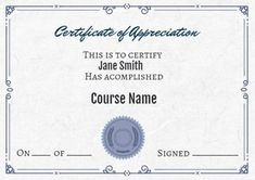 Certificates Of Appreciation Template Professional Presentation Templates, Certificate Design Template, Certificate Of Appreciation, Gray Background, Suit, Grey, Simple, Gray, Formal Suits