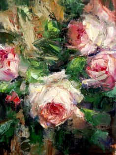 Artwork Pop-up - Palette Knife Roses