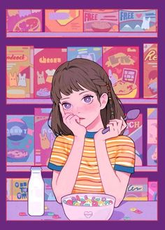 Ich bin so gelangweilt - Anime & illustrations - Arte Do Kawaii, Kawaii Art, Art Manga, Anime Art Girl, Manga Anime, Cartoon Kunst, Cartoon Art, Cartoon Memes, Cartoon Drawings