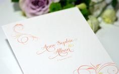 Creation Faire-part arabesque classique Paris Mariage Création sur mesure   L'Atelier d'Elsa www.latelierdelsa.com