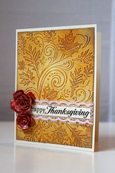 Happy Thanksgiving Card Giving Thanks by MrsKristenCreations