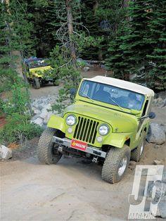 1975 Jeep Cj 5 Apple Green drivers Side Front Three Quarter Photo 46137594