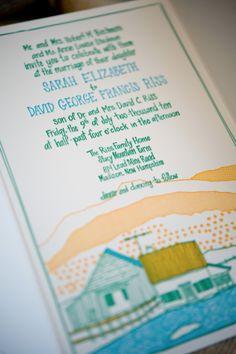 Hand Illustrated Farm Wedding Invitations