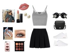 """""""Mia look"""" by emilieantonsen on Polyvore featuring Alexander Wang, Topshop, Lancôme, Lime Crime, NIKE, MAC Cosmetics, rag & bone, Casetify and Carolee"""