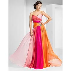 Sheath/Column Sweetheart Floor-length Chiffon Evening/Prom Dress – USD $ 128.79