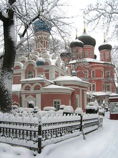 winter in russia.  I would live in this house, but I really don't want it to be in Russia!
