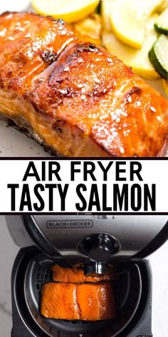 BEST Air Fryer Salmon - quick, easy, and delicious!You can find Air fryer salmon recipes and more on our website.BEST Air Fryer Salmon - quick, easy, and delicious! Air Fryer Recipes Salmon, Air Fryer Recipes Vegetarian, Air Fryer Recipes Snacks, Air Fryer Recipes Low Carb, Air Frier Recipes, Air Fryer Recipes Breakfast, Air Fryer Dinner Recipes, Cooking Recipes, Healthy Recipes