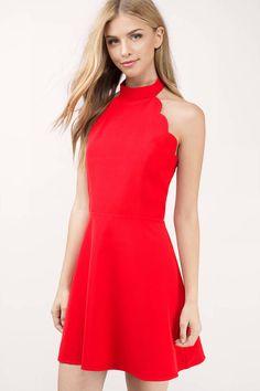 Gilda Scallop Skater Dress at Tobi.com #shoptobi