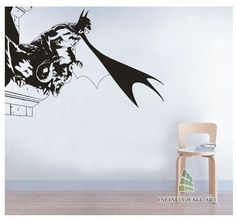 Batman Wall Art Decal, UNI Design Wall Decals mural decor,Wall Stickers - PD076