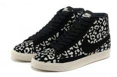 Nike Fds7 Blazer Mid Suede Vintage Leopardenmuster Laufschuhe Schwarz Weiß Damen Schuhe