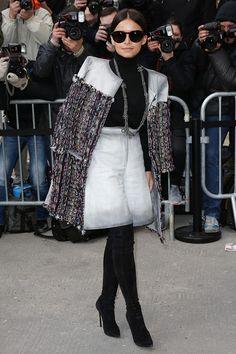 Miroslava Duma - Chanel : Outside Arrivals - Paris Fashion Week Womenswear Fall/Winter 2014-2015