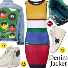 Denim Trend by gabrilungu on Polyvore featuring Topshop, Golden Goose, Chiara Ferragni, Muveil and jeanjackets