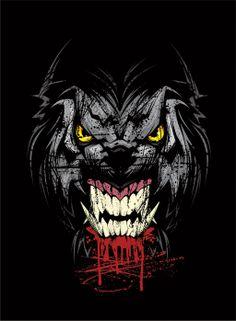 Werewolf illustration for a themed energy drink. All vector CorelDraw Werewolf Illustration Tier Wallpaper, Dark Wallpaper, Animal Wallpaper, Wallpaper Wallpapers, Gaming Wallpapers, Wallpaper Quotes, Dark Fantasy, Fantasy Art, Wolf Hybrid