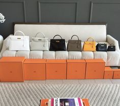 Left to right 40 35 32 28 25 vintage 20 and darling newborn - Hermes Handbags - Ideas of Hermes Handbags - - Kelly family! Left to right 40 35 32 28 25 vintage 20 and darling newborn Kelly 15 Hermes Birkin, Jane Birkin, Hermes Bags, Hermes Handbags, Purses And Handbags, Birkin Bags, Birkin 25, Luxury Bags, Luxury Handbags