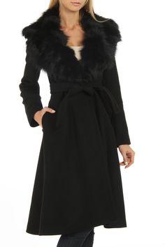 Axara Genevieve Coat In Black