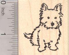 Cairn Terrier Dog Rubber Stamps (RubberHedgehog.Com)