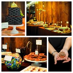 Oreo wedding cake, dessert bar, candy bar, wedding desserts.