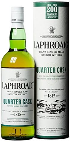 Laphroaig Quarter Cask Single Malt Scotch Whisky, 70 cl For greater authenticity we simply barrier filtered the whisky - the method used in those far off days - and bottled at a higher alcoholic strength.andlt