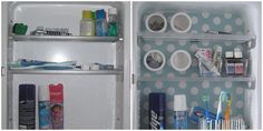 Try magnetic containers if you have a metal medicine cabinet.