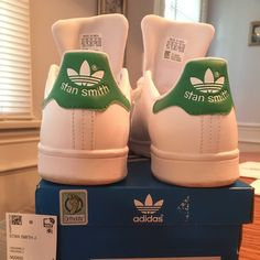 quality design 476fc 206f0 adidas Shoes   Adidas Stan Smith Junior Size 4.5   Color  Green White    Size  6