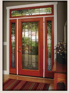 ODL door glass, decorative glass for exterior doors, front entry doors Door Glass Inserts, Glass Front Door, Glass Doors, Entrance Doors, Patio Doors, Garage Doors, Front Door Design Wood, Traditional Front Doors, Exterior Doors
