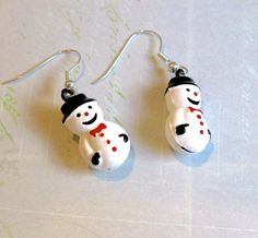 Jingle Bell Earrings, Snowman Earrings, Snowman Jewelry, Christmas Bell Earrings, Gift For Girls, Stocking Stuffer, Winter Jewelry by EyeCandiByCandi on Etsy