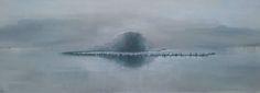 Lida Hofstede Dutch artist. Verstilling  Island in a still moment. Acrylic