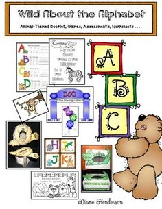 Be sure and click the PREVIEW to see lots of pictures and samples of the goodies that are part of this packet. The thumbnails only show 3 of the 7 preview pages. Whether assessing to see where your kiddos are at, during the first week of school, or learning and practicing the upper and lowercase letters throughout the year, youll find this a fun-filled packet, which includes the following: *ABC Booklet: * Emergent Reader My Animal Alphabet Booklet (Black & white plus color copies).
