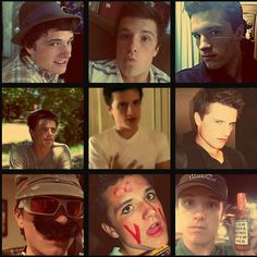 Josh Hutcherson's many personalities. The bottom middle... should I be concerned?