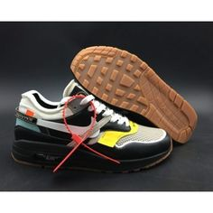36ac5c32ba19 Virgil Abloh x BespokeIND x Off-White X Nike Air Max 1s Men s Black Leather