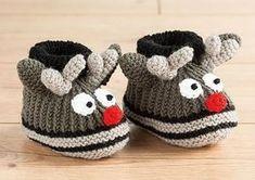 chaussons petit renne pour bébé