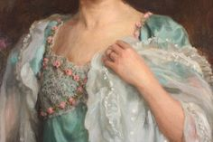 Charles Haigh-Wood - Mrs. Escombe (detail)
