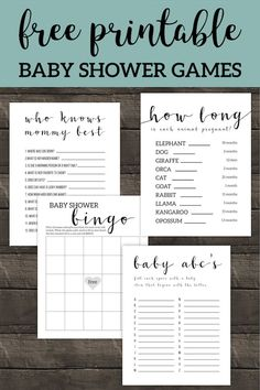 Best simple and easy DIY games for boy, girl, … Free Printable Baby Shower Games. Best simple and easy DIY games for boy, girl, or gender neutral baby shower that aren't lame. Bingo Baby Shower, Baby Shower Virtual, Easy Baby Shower Games, Fiesta Baby Shower, Baby Shower Activities, Baby Shower Games Printable, Baby Shower For Boys, Baby Shower Checklist, Baby Games For Boys