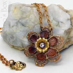 Robin Delargy / LooLoo's Box   Vintage inspired handcrafted necklace