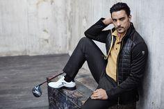 Chervò - Man golf outfit: Jacket MANDARINO 999, Polo ASTON 46B, Trousers SLITTA 999