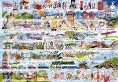 Cream Teas and Queuing Jigsaw 2000 pcFrom Stonehenge to Wife-Carrying, Val Goldfinch has created a marvellous and beautifully illustrated collection of historical landmarks, quirks and idiosyncrasies from our island nation. This Cream Teas and Queuing Jigsaw 2000 pc is a real challenge as the finished jigsaw is double the size of our standard 1000 piece puzzles. High quality 2000-piece jigsaw puzzle Made from thick, durable board that is 100% recycled Puzzle dimensions: 98x68cm B 2000 Piece Puzzle, Puzzle Pieces, Puzzle Board, Angel Of The North, Cream Tea, Historical Landmarks, Her Majesty The Queen, Goldfinch, Culture