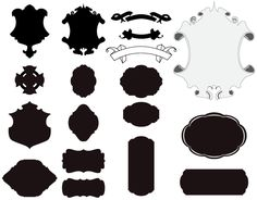 Free Vector Cartouches and Scrolls