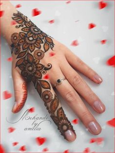 Black Mehndi Design For Full Hands and Feet