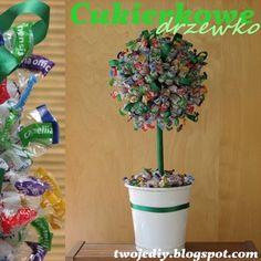 Twoje DIY - czyli zrób to sam: Cukierkowe drzewko
