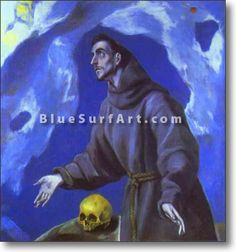 St. Francis Receiving the Stigmata - £124.99 : Canvas Art, Oil Painting Reproduction, Art Commission, Pop Art, Canvas Painting