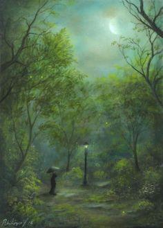 Philippe Fernandez - Forest Moon Landscape