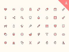 40 Health Icons by Trinh Ho