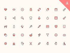40 Health Icons by Trinh Ho