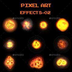 #Pixel Art Effects 02 - Sprites #Game Assets Download here: https://graphicriver.net/item/pixel-art-effects-02/19720784?ref=alena994