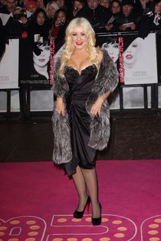 Christina Aguilera and Cher at the UK Burlesque premiere