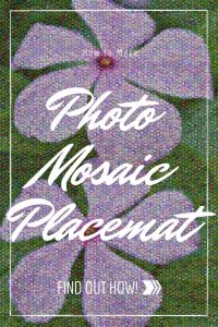 How to Make a No Sew Photo Mosaic Placemat for Spring